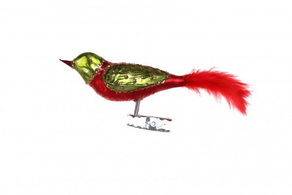 Vogel, rot-grün