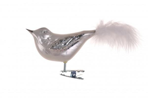 Vogel, weiß-silber