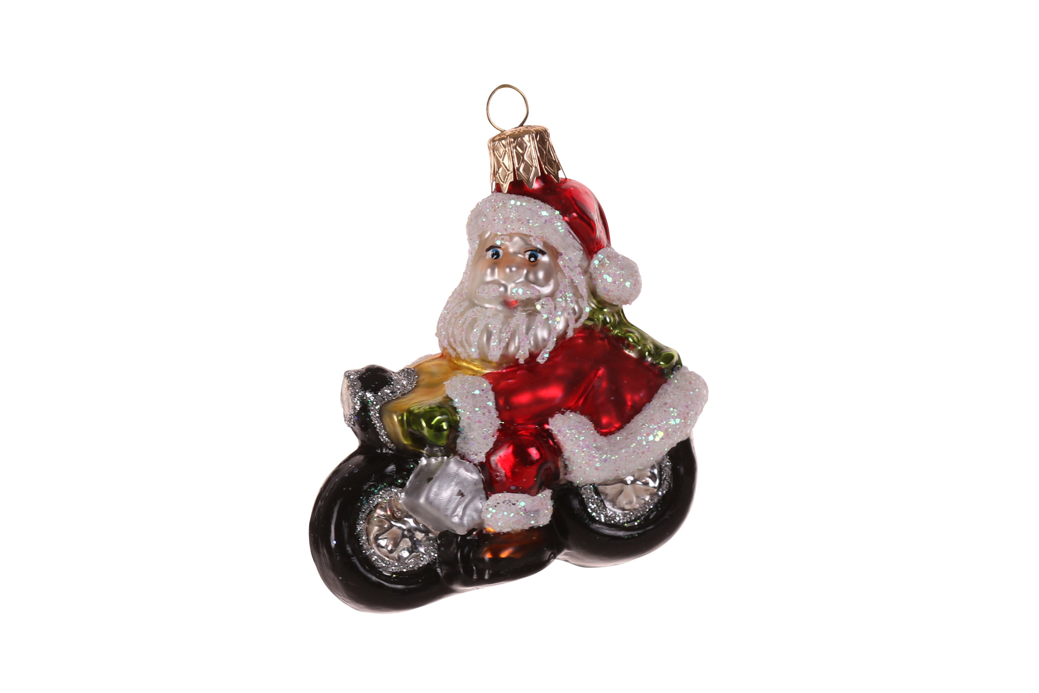 motorrad weihnachtskugel weihnachtsmann auf motorrad. Black Bedroom Furniture Sets. Home Design Ideas