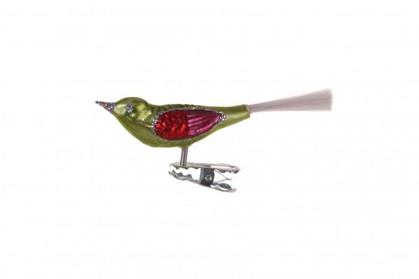 Vogel, klein, kiwigrün, Glasfaser