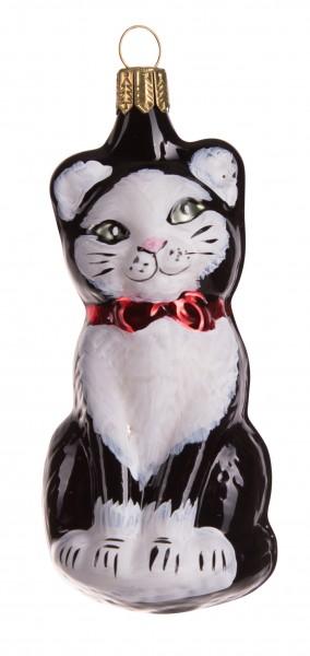 Katze, schwarz-weiß