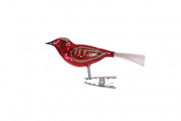 Vogel, klein, rot-gold