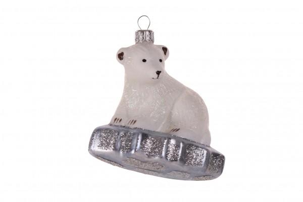 Eisbär auf Scholle, groß